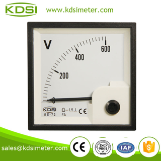 Easy operation BE-72 72*72 DC600V generator voltmeter