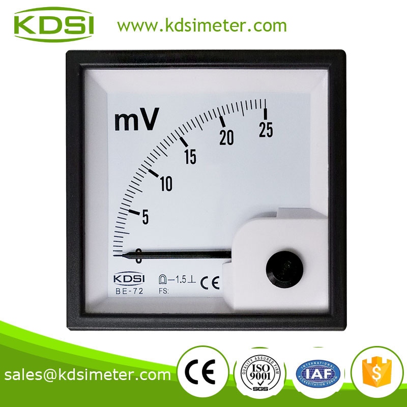 KDSI electronic apparatus BE-72 72*72 DC25mV analog panel millivoltmeter