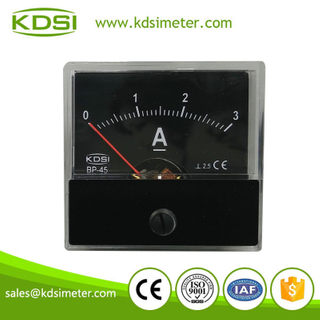 Safe to operate BP-45 DC3A analog dc ampere meter with black panel