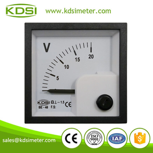 New model BE-48 DC Voltmeter DC20V panel mini meter