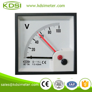 Portable precise BE-96 96 * 96 DC4-20mA 100V double pointer DC Voltmeter
