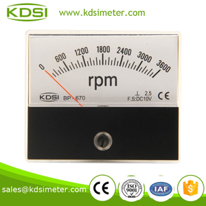 Portable precise BP-670 60*70mm DC10V 3600rpm analog tachometer