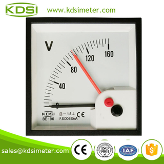 Hot Selling Good Quality Safe to operate BE-96 DC4-20mA 160V double pointer generator voltmeter