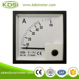 20 Year Top Manufacturer of CE,ISO passed BE-80 AC50 / 5A ac ampere meter