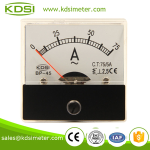 Dustproof BP-45 AC75 / 5A panel ampere meter