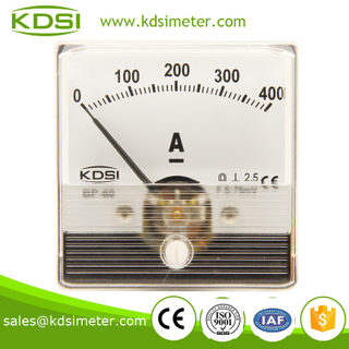 Portable precise BP-60N DC Ammeter DC75mV 400A analog panel amps meter for welding machine