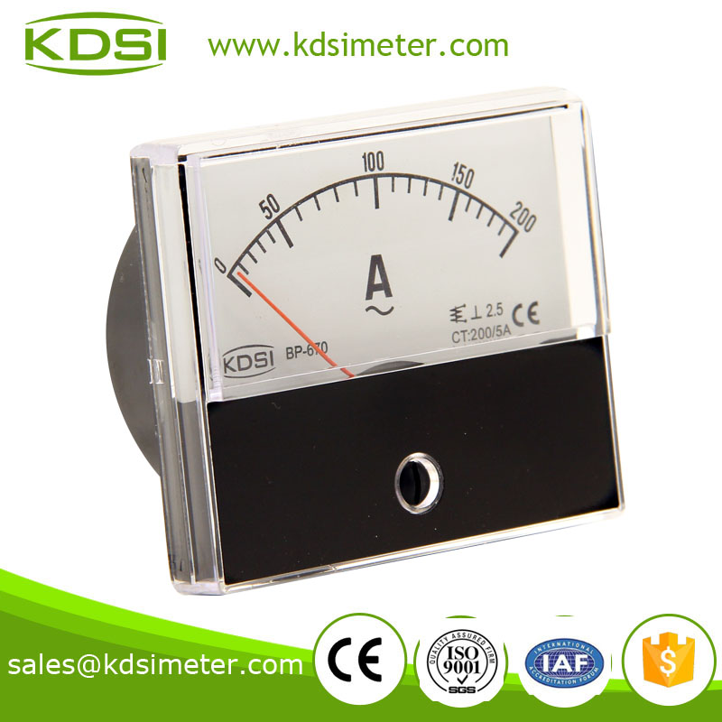 Taiwan technology BP-670 60*70 AC200/5A ac ampere meter