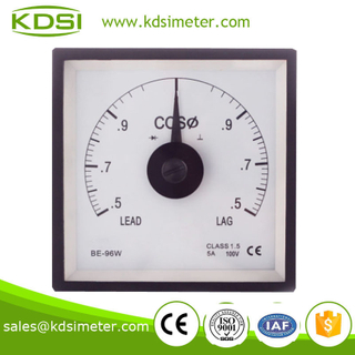 BE-96W Power factor meter COS 5A 100V 0.5lead-1.0-0.5lag