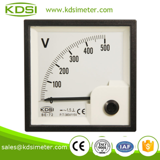 Taiwan technology BE-72 72*72 AC380V/115V 500V with rectifier analog voltmeter